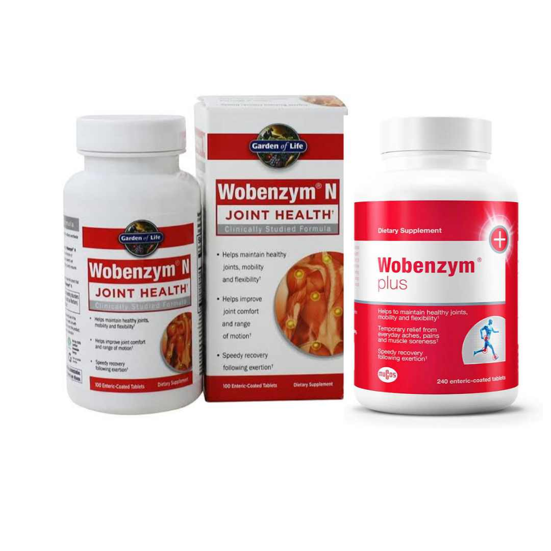 Garden of Life Joint Support Supplement - Wobenzym N Systemic Enzymes Helps to soothe joint pain.