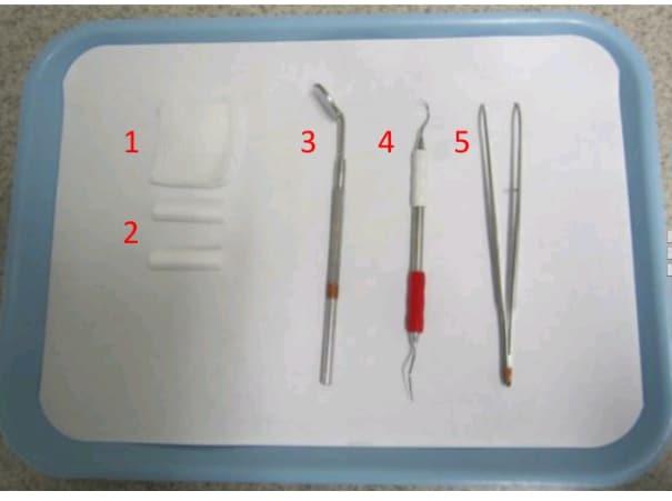dental tray setup