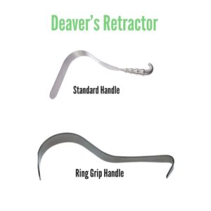 Deaver retractor and their uses