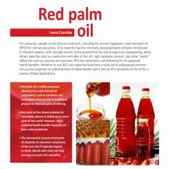 Benefits of red palm oil -Benefits of red oil